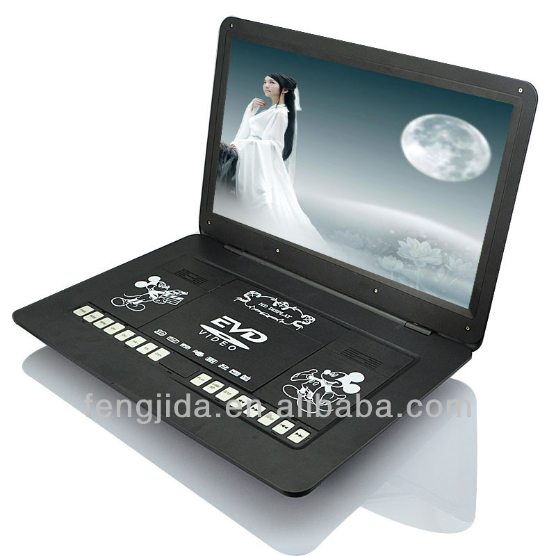 Large Screen Portable : Inch large screen portable dvd player with tv av fm