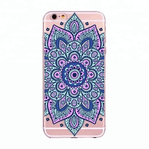 customize mandala printing soft tpu mobile phone back cover for iphone 6