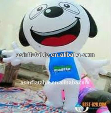inflatable advertising mobile cartoon dog for sale