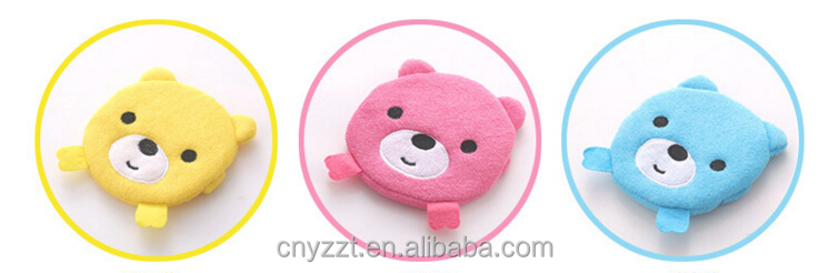2016 Wholesale Baby Bear Sponge Terry Bath Mitt/Carton Baby Bath Mitt