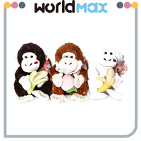 New Arrival Soft Cartoon Plush Toy Banana Gorilla For Baby