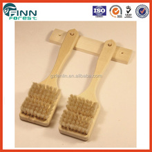 Durable and portable hot sale factory best price sauna accessories fashionable solid wood sauna brush set sale