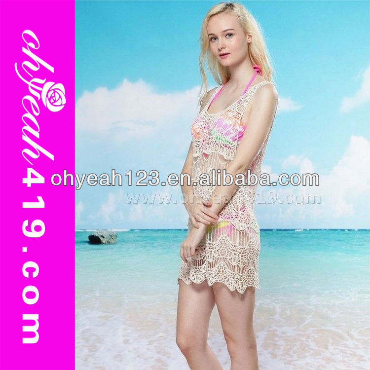<strong>Sexy</strong> white crochet beach dress sarong