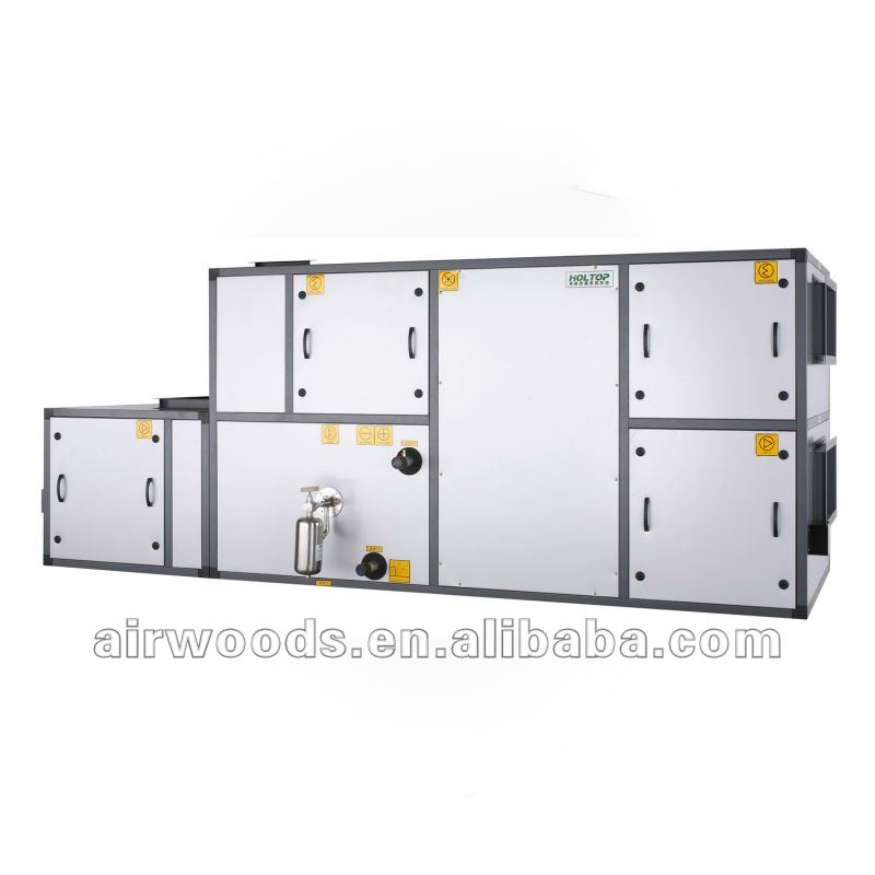 Clean room heat exchange air handling unit systems
