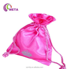 ODM New Plan Factory Super Quality Satin Bra Bags, Drawstring Satin Bags with Tassels for Bundles