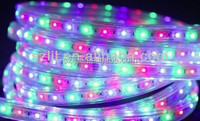 Multi-fuction Copper Wires 220V SMD 5050 LED Flex Strip RGB