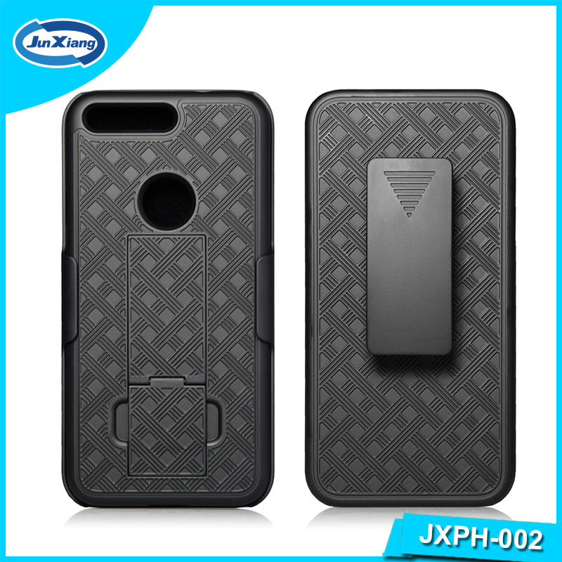 Hot selling new product shell holster combo case for Google Pixel with kickstand and belt clip