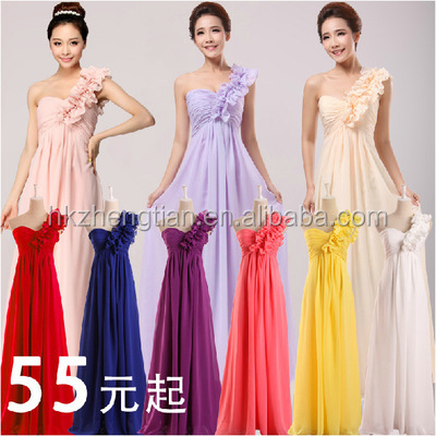 2015 walson Cheap Chiffon Cocktail Dresses Party Evening Gowns Wedding Bridesmaid Dress