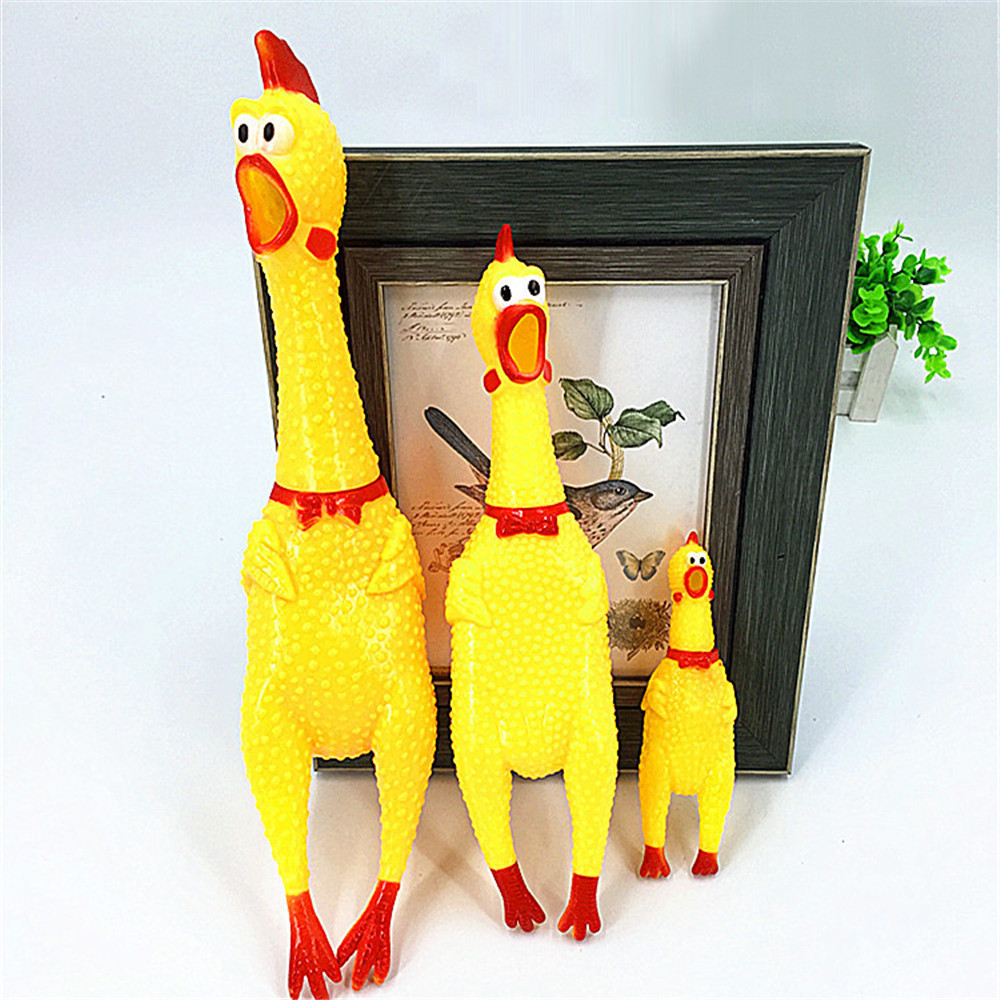 Hot Selling Top Quality Screaming Rubber Squeaky Chicken Dog Cat Chew Pet Toy