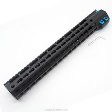 15 Inch Black Keymod Free Float Handguard for .308 High Profile DPMS Style