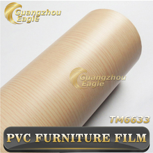 Moisture-Proof Antifouling Wood Grain Lamination Self Adhesive Furniture PVC Sheet Printed Membrane Embossed Film Manufacturer