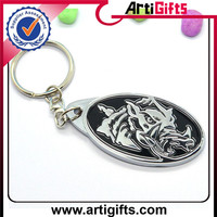 3d custom zinc alloy crown key chain