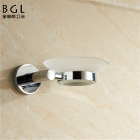 shop onlin for bathroom accessories chrome finishing roung zinc alloy soap dish