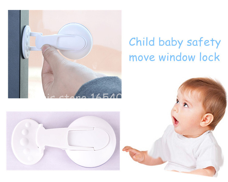 Newest baby safety child window lock 2pcs/lot shift window lock child safety sliding window locks baby safety