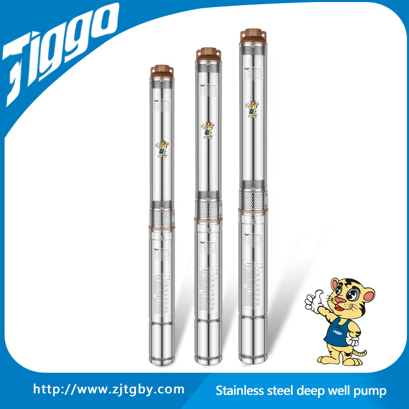 4ST10 2015 TIGGO new good quality stainless steel 2hp irrigation centrifugal submersible deep well electric motor water pumps