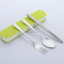 3pcs Lunch Box Portable Stainless Steel Cutlery Set
