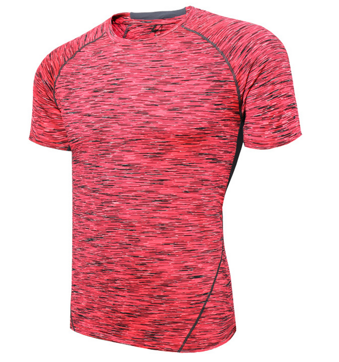 new Men's T-Shirt With Space Dye And Relaxed Skater Fit Casual T-Shirt Workout Men