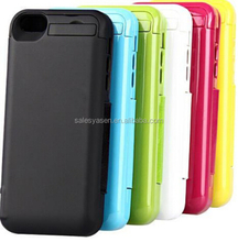 3 in 1 4200mah battery case for iPhone 5,for iPhone 5C,for iPhone 5S with flip cover