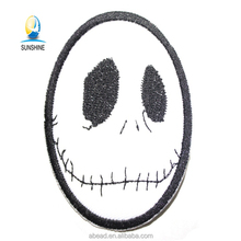 Cheap Price biker emoji embroidered patches custom leather jacket patches