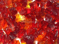 Recycled Glass Chips Red Color 10MM-80MM