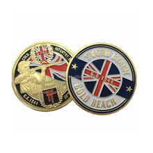 kunshan China supplier Wholesale gift items custom metal soft enamel gold beach challenge coin