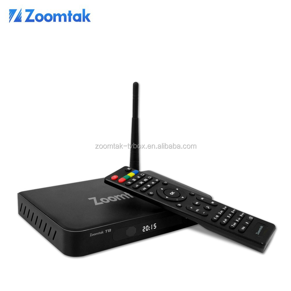 Latest original Zoomtak T8 Aml S802 quad core google internet tv box XBMC/KODI streaming player tv box OTT iptv box
