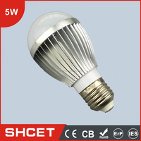 Aluminum Shell CET-003 5W Led Light Bulb Standard Base E27 For Study Room LED Lamp