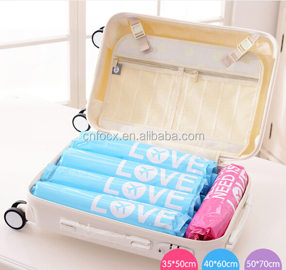 Travel Vacuum Storage Bag / Clothes Space Saver / clothes Compressed Organizer