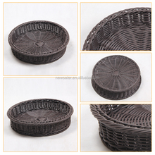Anti-tampering woven plastic rattan wicker eco french bread baskets