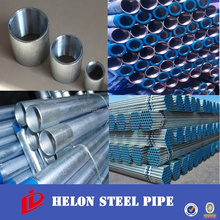 galvanized threaded nipple steel pipe/steel tube/hollow section for construction china manufacture