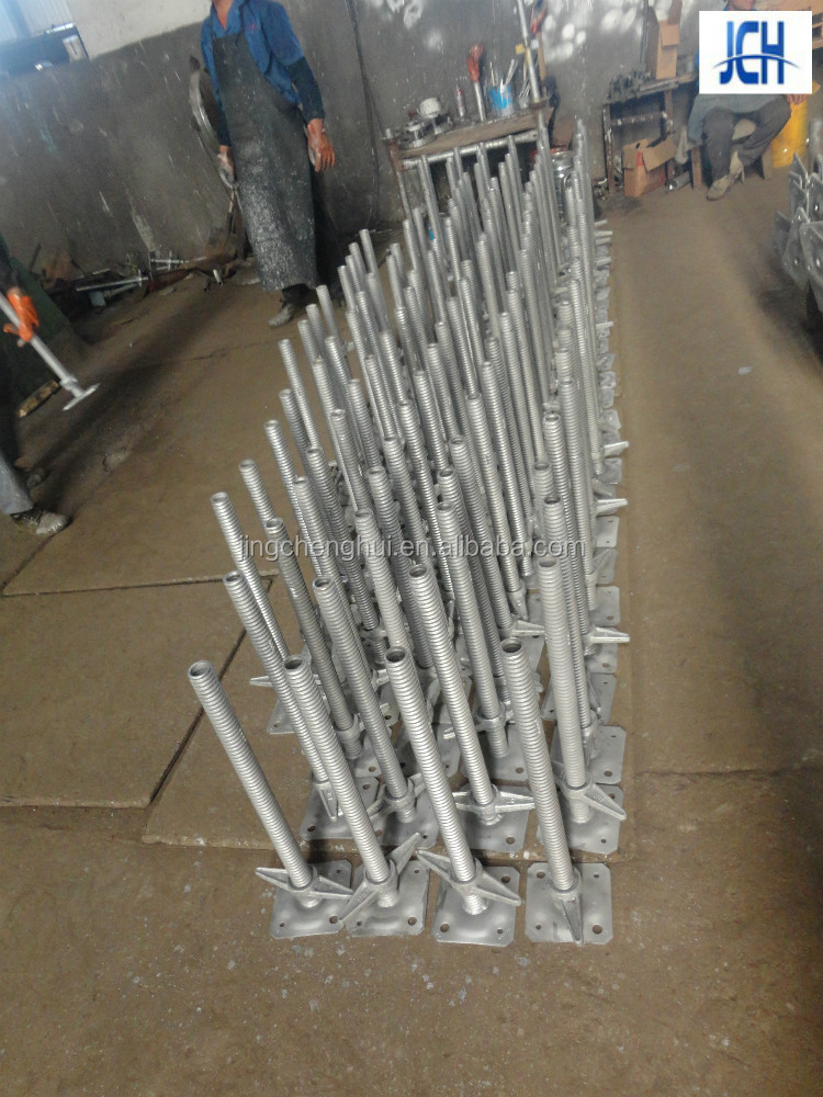 Galvanized solid & hollow scaffolding base jack