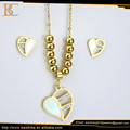 wholesale mexican heart shape stainless steel jewelry set for couple