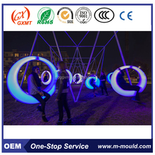Waterproof colour changing party decorative led lighted garden swing