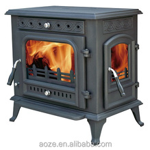 Indoor Wood Fireplaces cast iron wood stove side