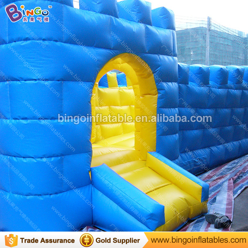 PVC Tarpaulin Chinese type giant Building inflatable The Great Wall bouncer