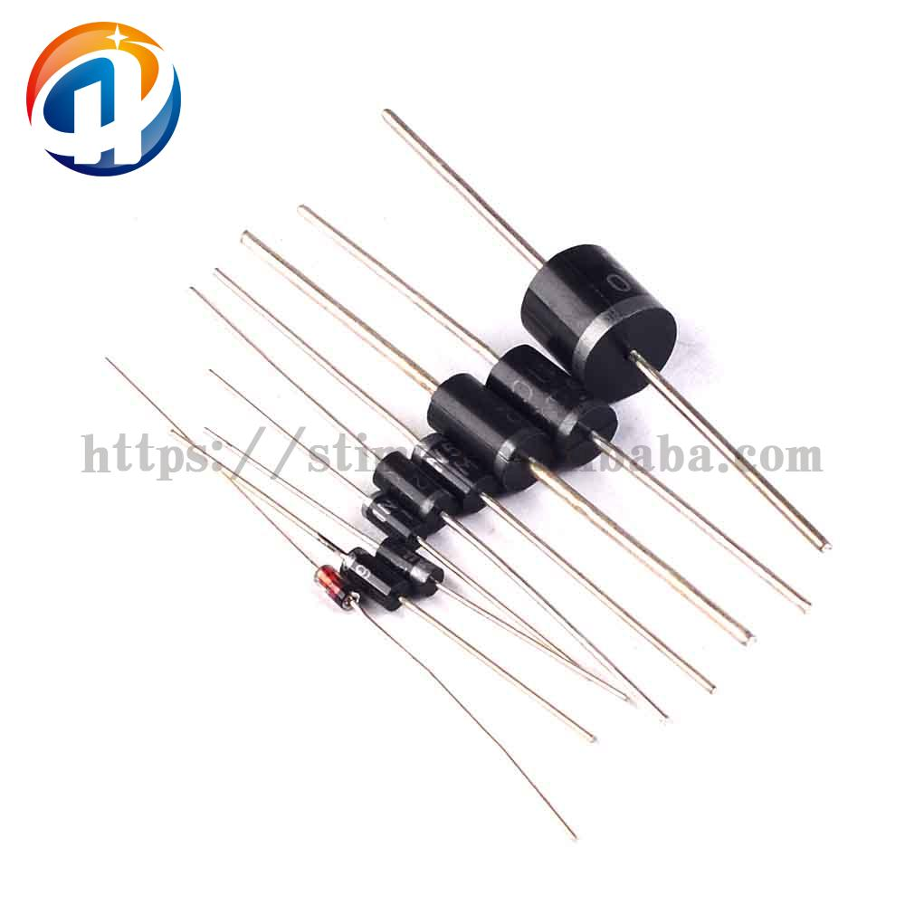 1N4148 1N4007 1N5819 1N5399 FR107 FR207 1N5408 1N5822 6A10 rectifier diode pack (9 species