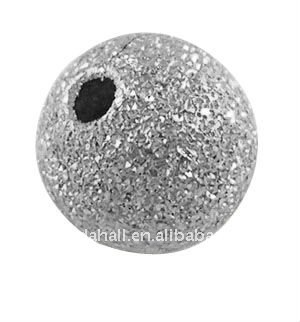 Brass Stardust Beads, Round, Nickel Color, about 10mm, hole: 1.8mm(EC226)