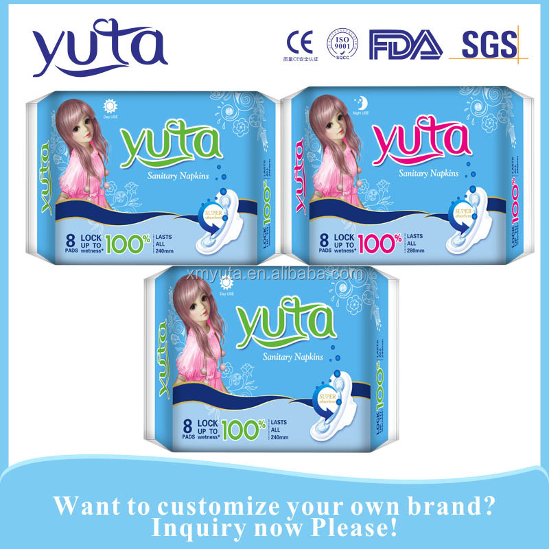 Wholesale good quality lady pad anion sanitary napkin side effects