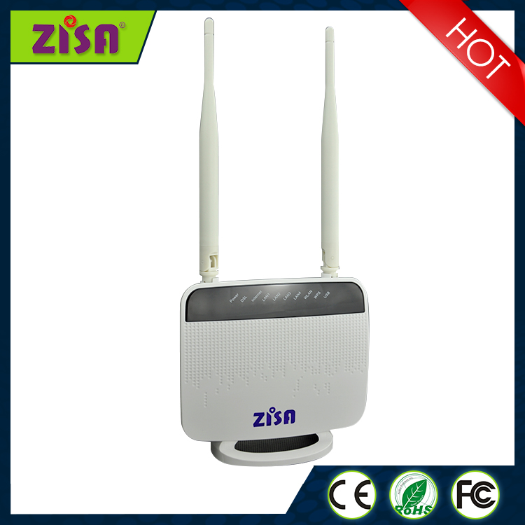 Customized supported usb 4LAN port wireless dsl modem with huawei antenna