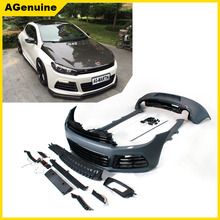 PP plastic R style front bumper rear bumper side skirt conversion body kit for Volkswagen VW Scirocco