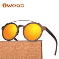 2018 New release Custom wood engraved logo natural Retro sunglasses