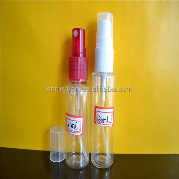 30ml Portable Refillable Plastic Fine Mist Perfume Make up Clear Empty Bottle Cosmetic Atomizers PET Spray Bottles