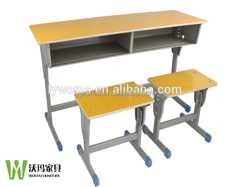 School Tables and Chairs Adjustable Double Student Desk And Chair School Furniture