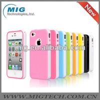 "Colorful 2 in 1 TPU + PC case for iphone 4, for iphone 4"" accessories"