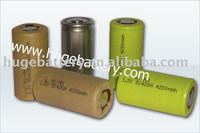 Hot sale NIMH SC 1.2v 4200MAH High temperature battery From Factory
