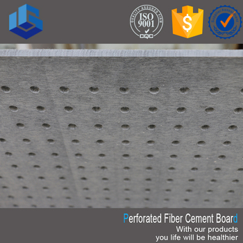 Sound absorbing perforated mdf fiber cement wall board