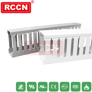 RCCN High Quality Halogen Free Wiring Duct VDRT-HF Closed Slot Wiring Duct slotted Wide slot design flexible cable