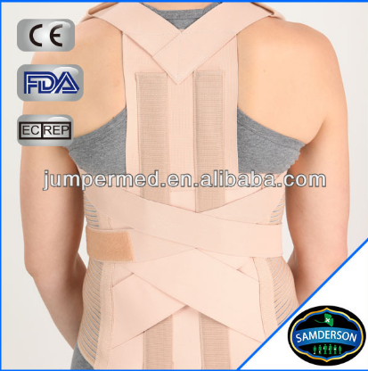 Spinal brace posture corrector back with two metal stays in back