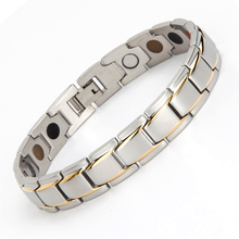 Japan Factory Stainless Steel Silver Magnetic Charm Bracelet For Couple