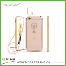 Shengo Mobile Phone Accessories OEM Diamond Phone Cover Clear TPU Fancy Cellphone Cases for iPhone 5S